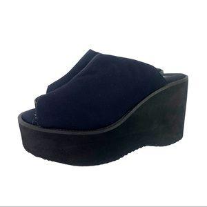 Vntg 90s Stone Ridge Foam Platform Sandals Nylon 7